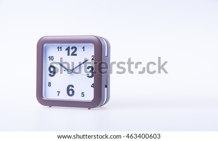 alarm clock on the background