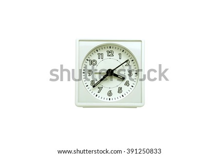 Alarm clock on white backgrounds