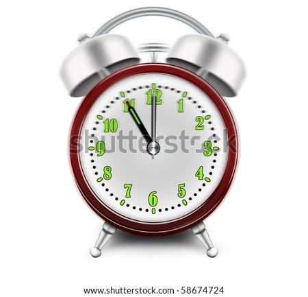Alarm clock ringing at 11 o'clock - stock photo