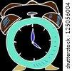 Alarm clock. Sketch - stock photo