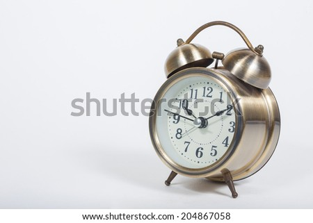 alarm clock two bell - stock photo