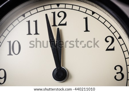 Alarm clock watch - stock photo
