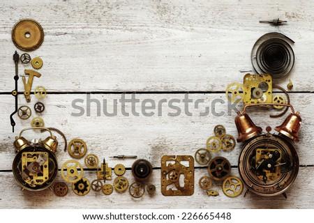 alarm clocks framework - stock photo