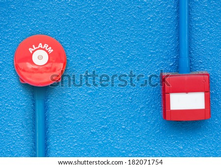 alarm on wall  - stock photo