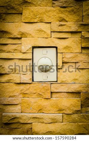 Alarm outside home - stock photo