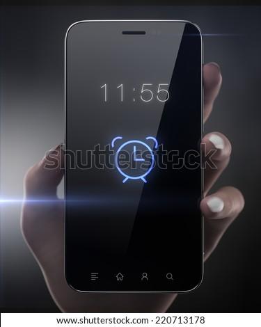 Alarm smart phone concept - stock photo