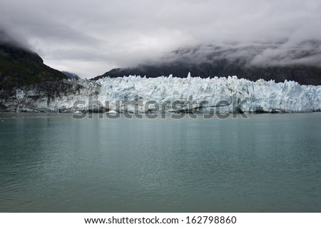 Alaska - Glacier Bay in a cloudy day - Margerie glacier/Glacier Bay National Park Alaska  - stock photo