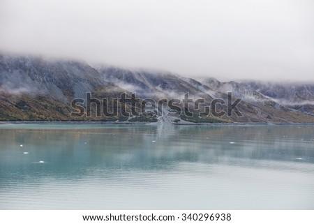 Alaska Glacier Bay November  - stock photo