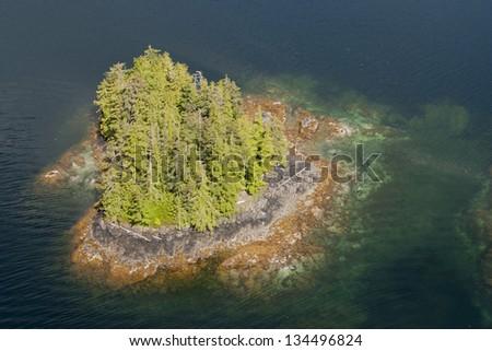 Alaska Prince of Wales island aerial view - stock photo