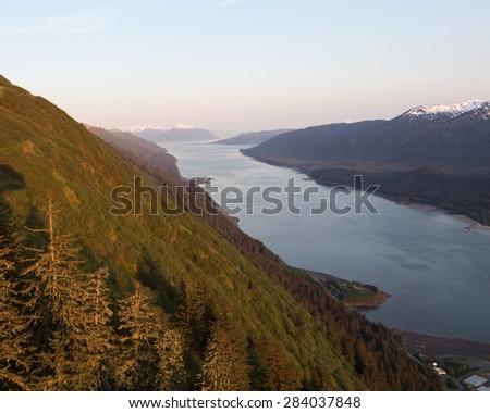 Alaska's Gastineau Channel - stock photo