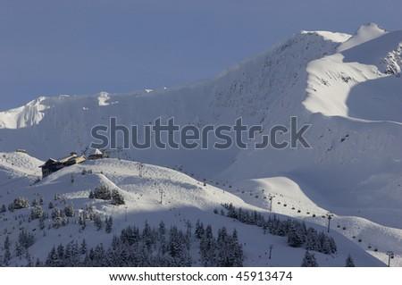 Alaska ski resort - stock photo