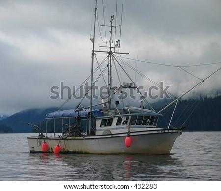 Alaskan fishing boat - stock photo