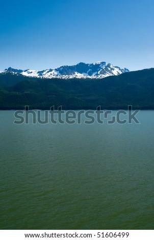 Alaskan Inside Passage Landscape - stock photo
