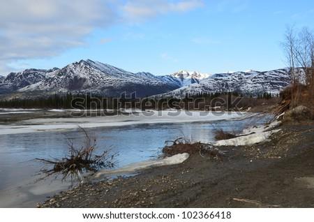 Alaskan Mountains - stock photo