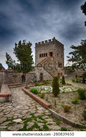 Albania, tourist destination the archaeological site of Butrint - stock photo