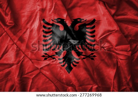 Albanian flag - stock photo