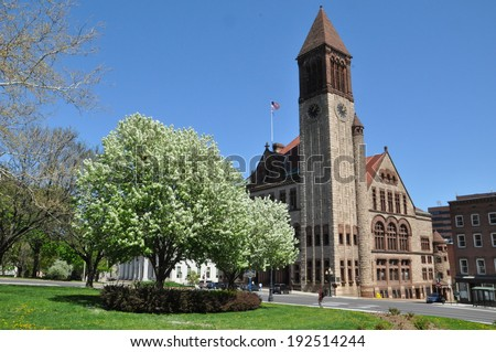 Albany City Hall in New York State - stock photo