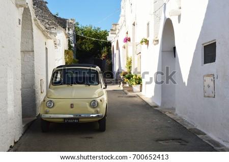 Alberobello Italy July 31 2017 Fiat Stock Photo Royalty Free