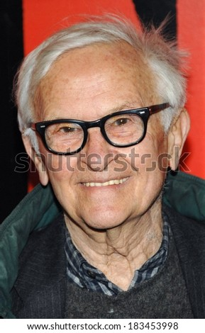 Albert Maysles at SHINE A LIGHT Premiere, Clearview's Ziegfeld Theater, New York, NY, March 30, 2008  - stock photo