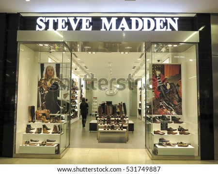 ALBERTA, CANADA - SEPTEMBER 23, 2014: View at Steve Madden shop in Alberta