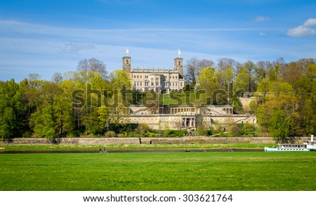 Albrechtsberg Palace. One of the three castles of Elbe in Dresden.