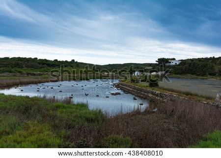 Albufera des Grau Natural Park, Menorca,  Spain - stock photo