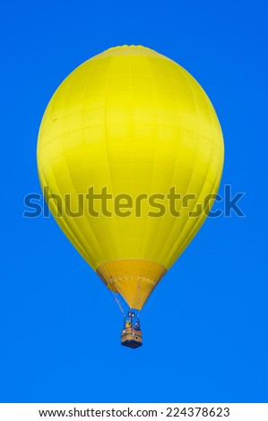 ALBUQUERQUE, NEW MEXICO - OCT 11: Balloon fly over Albuquerque on October 11, 2014 in Albuquerque, New Mexico. Albuquerque balloon fiesta is the biggest balloon event in the world.