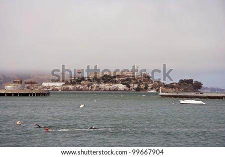 Alcatraz in the city of San Francisco, California - stock photo
