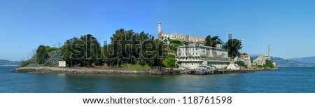 Alcatraz island and penitentiary - stock photo