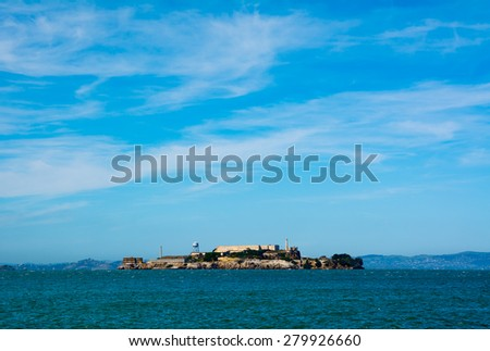 Alcatraz Island in San Francisco California - stock photo