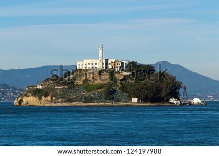 Alcatraz Island in San Francisco, USA - stock photo