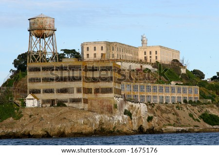Alcatraz Island, San Francisco, California. - stock photo