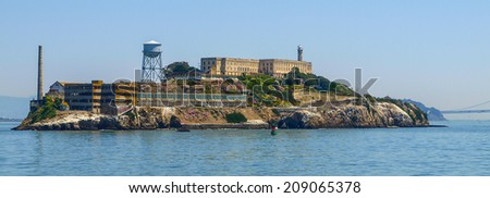 Alcatraz - The most known prison on the island near San Francisco - stock photo