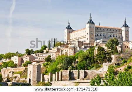 Alcazar of Toledo and homes
