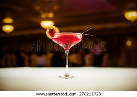 Alcohol coctail drink on the table in restaurant - stock photo