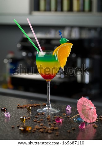 alcoholic cocktail - stock photo