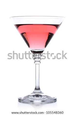 alcoholic cocktail isolated on white - stock photo
