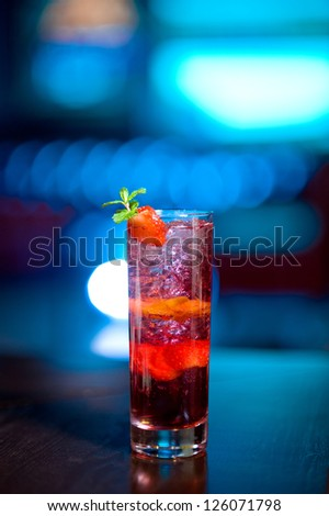 Alcoholic cocktail with ice - stock photo