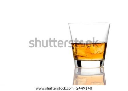 Alcoholic drink against white background - stock photo