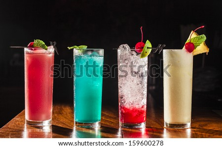 Alcoholic Drinks - stock photo