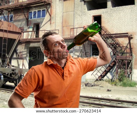 Alcoholic outdoor - stock photo