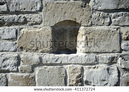 Alcove in a wall