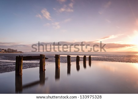 Aldingham is a village and civil parish in the South Lakeland district of Cumbria, England. It is situated on the east coast of the Furness peninsula, facing into Morecambe Bay. - stock photo