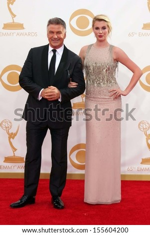 Alec Baldwin and Ireland Baldwin at the 65th Annual Primetime Emmy Awards Arrivals, Nokia Theater, Los Angeles, CA 09-22-13 - stock photo