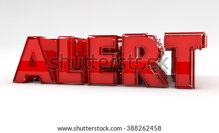 Alert 3d red text sign - stock photo