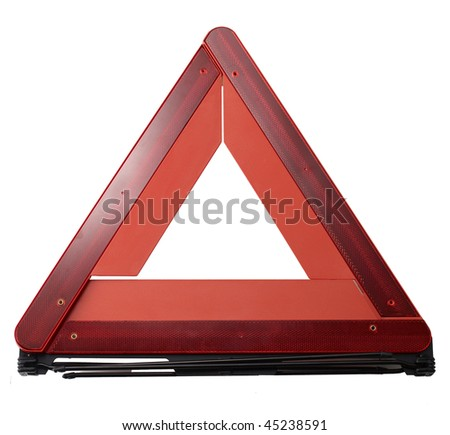 alert plate - stock photo