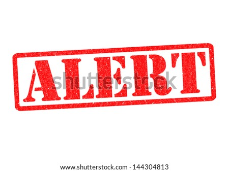 ALERT Rubber Stamp over a white background.