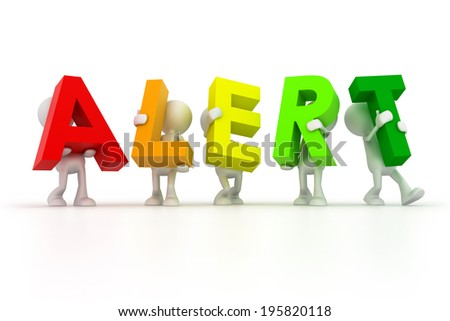 Alert Team - stock photo