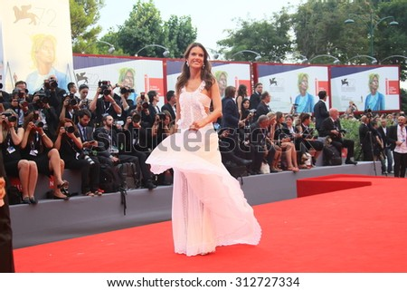 Alessandra Ambrosio attend the opening ceremony and premiere of 'Everest' during the 72nd Venice Film Festival on September 2, 2015 in Venice, Italy. - stock photo