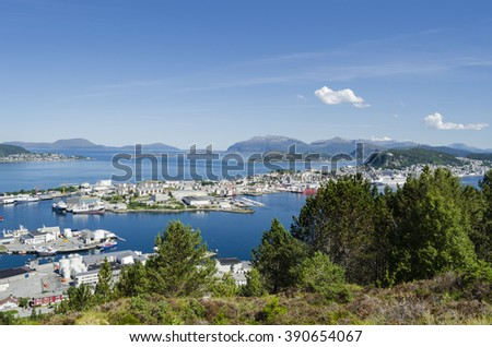 Alesund city view, Norway